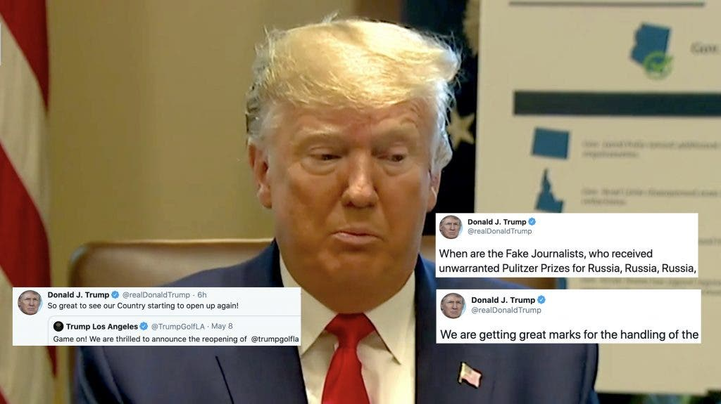 Trump Sunday Twitter roundup: A barrage of defensive ...