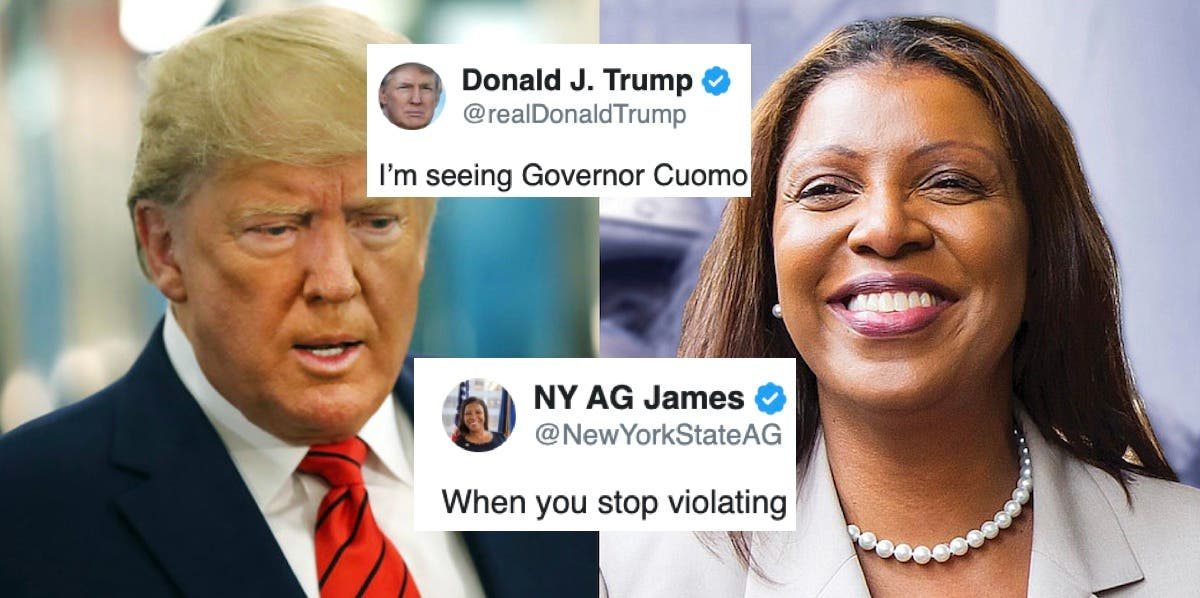 New York's AG corrects Trump's ignorance and taunts him over demand to end investigations